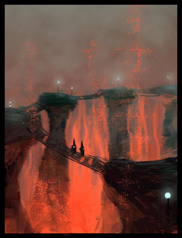 Molten trail by richgraphix