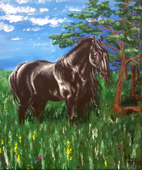 Friesian for my daddy by LisaKillings
