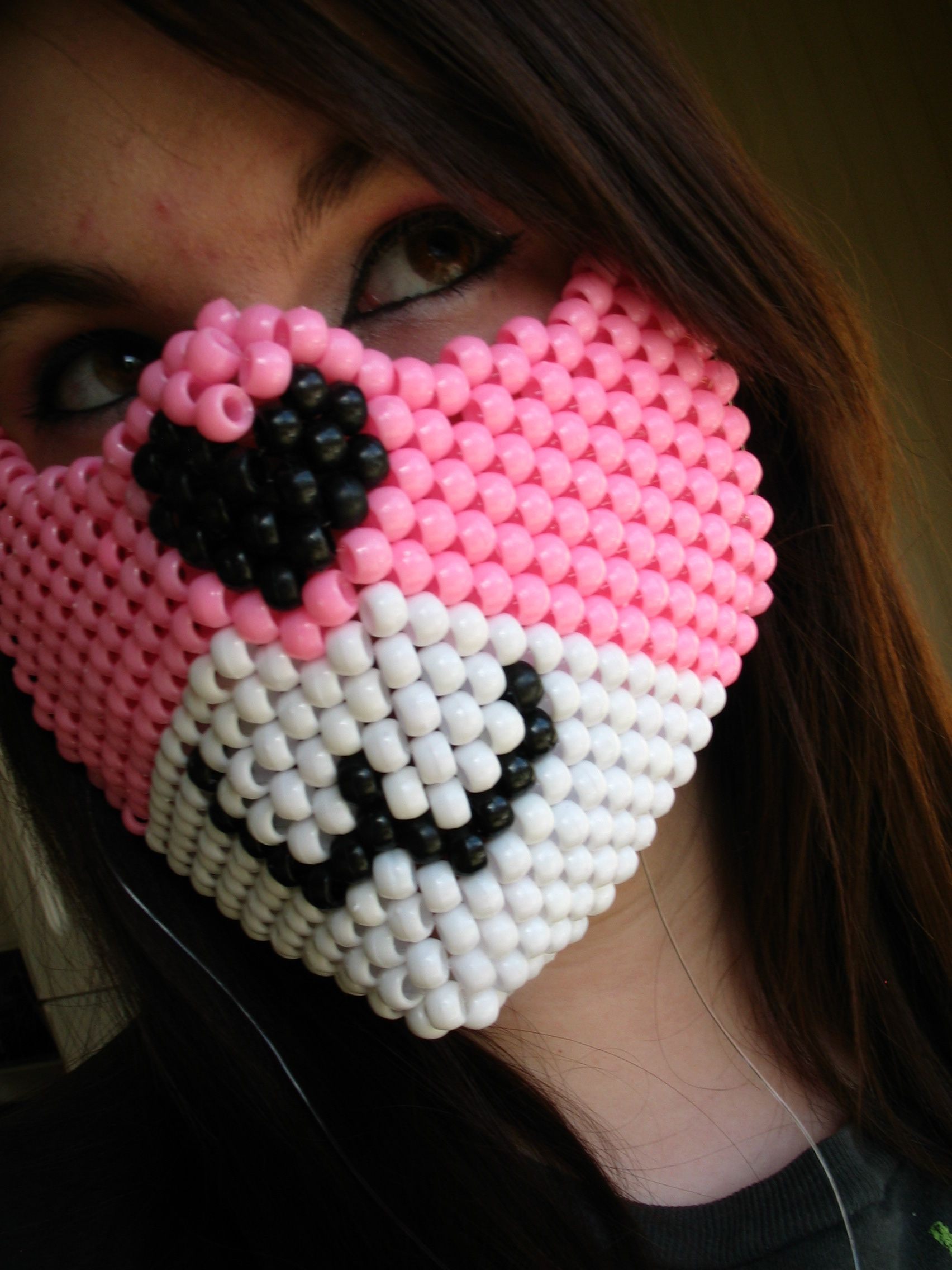 Custom Furry Animal Kandi Half Mask by Bahcita on DeviantArt
