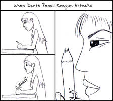 Darth Pencil Crayon Attacks