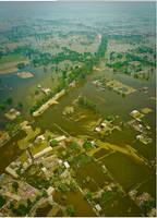 bird eye view of flood by zamir