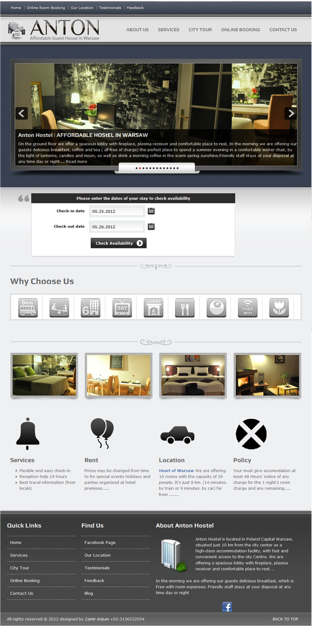 antonhostel.pl  II design work
