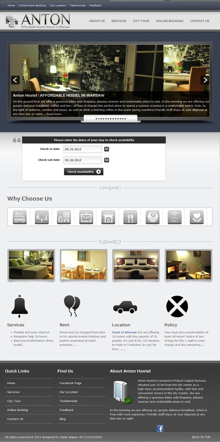 antonhostel.pl  II design work by zamir