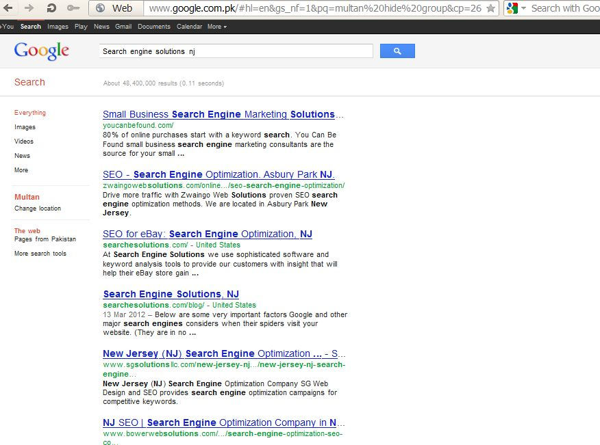 Search Engine Solutions NJ by zamir