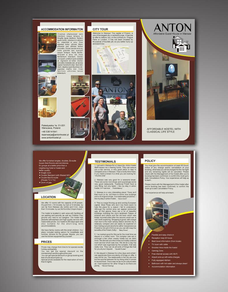 Antonhostel | leaflet mokup