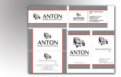 Antonhostel | business card II mokup by zamir