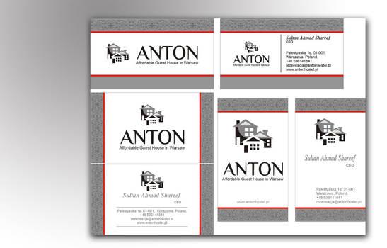 Antonhostel | business card II mokup
