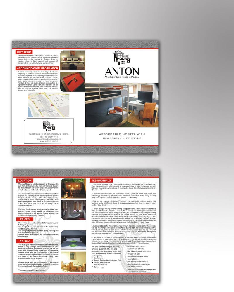 Antonhostel | leaflet II mokup