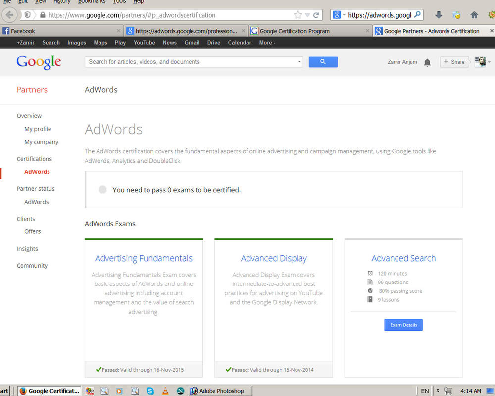 Exam details google adwords certification program by zamir on exam details google adwords certification program by zamir 1betcityfo Images