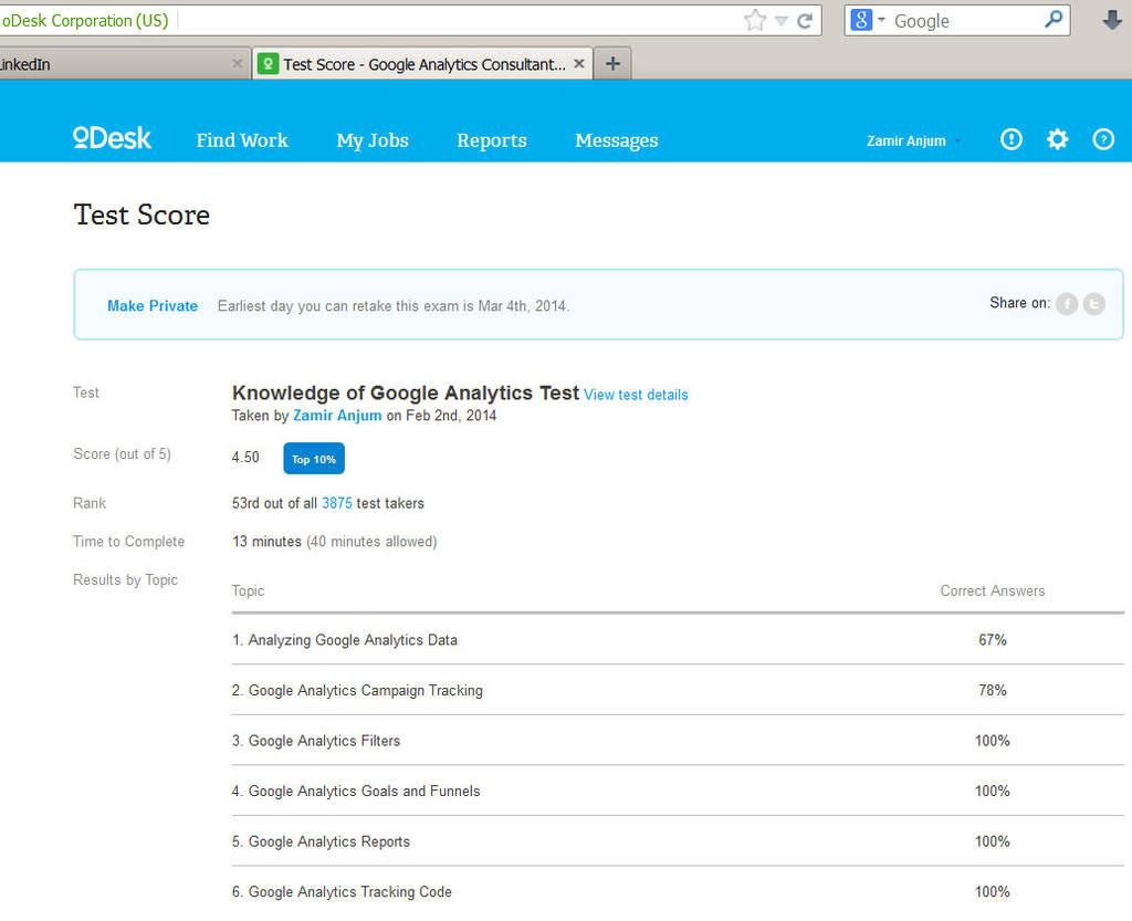 Google Analytics Test Passed by zamir