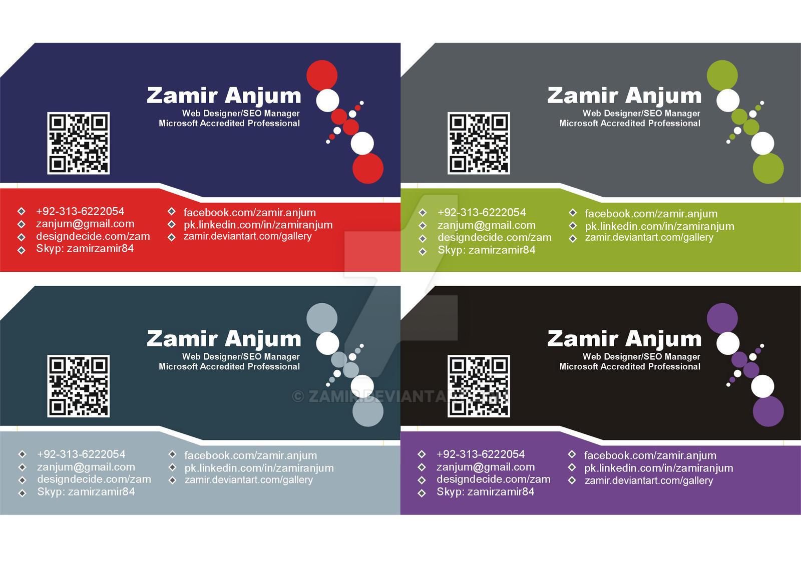 4 Business cards by zamir