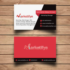 Marketing Manger Business card in New York