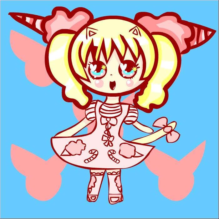 Kawaii Neko Pinku Chibi by Faery-Rainbow
