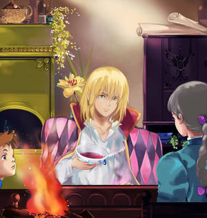 Around the Fireplace