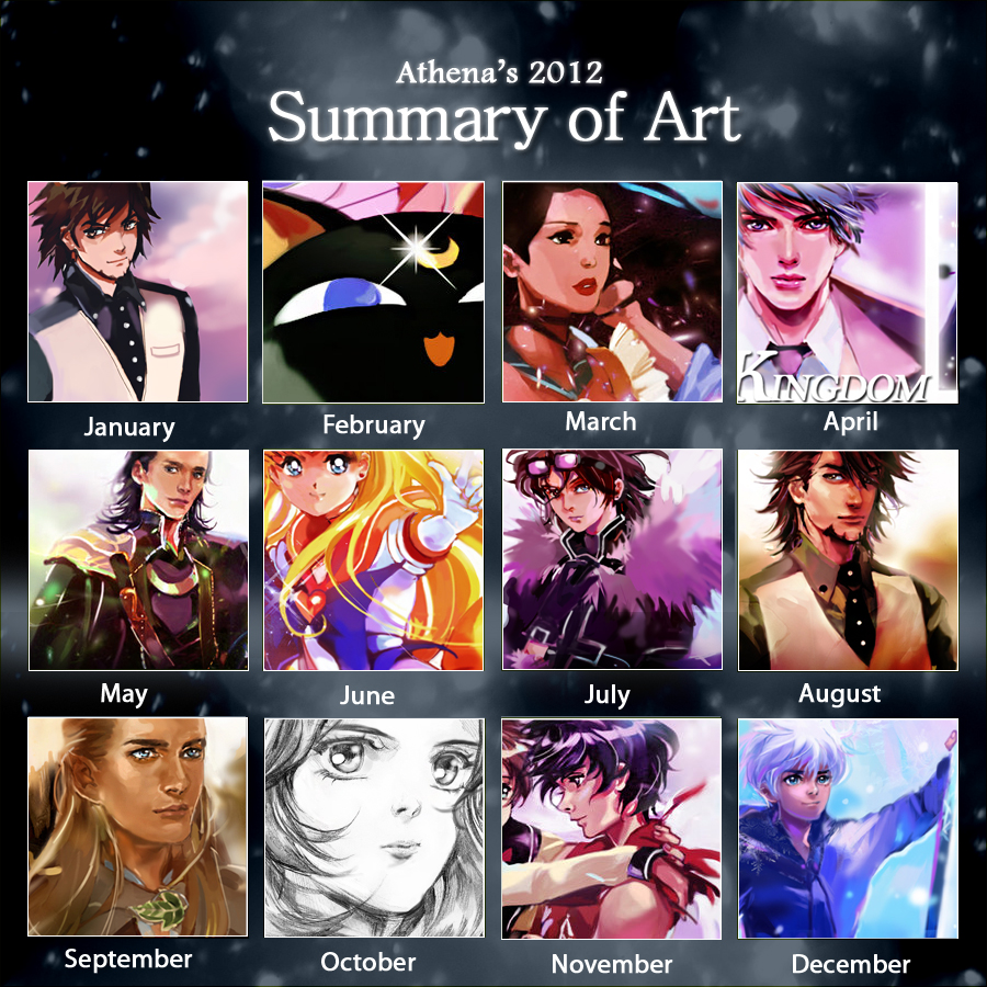 2012 Summary of Art by Athena-chan