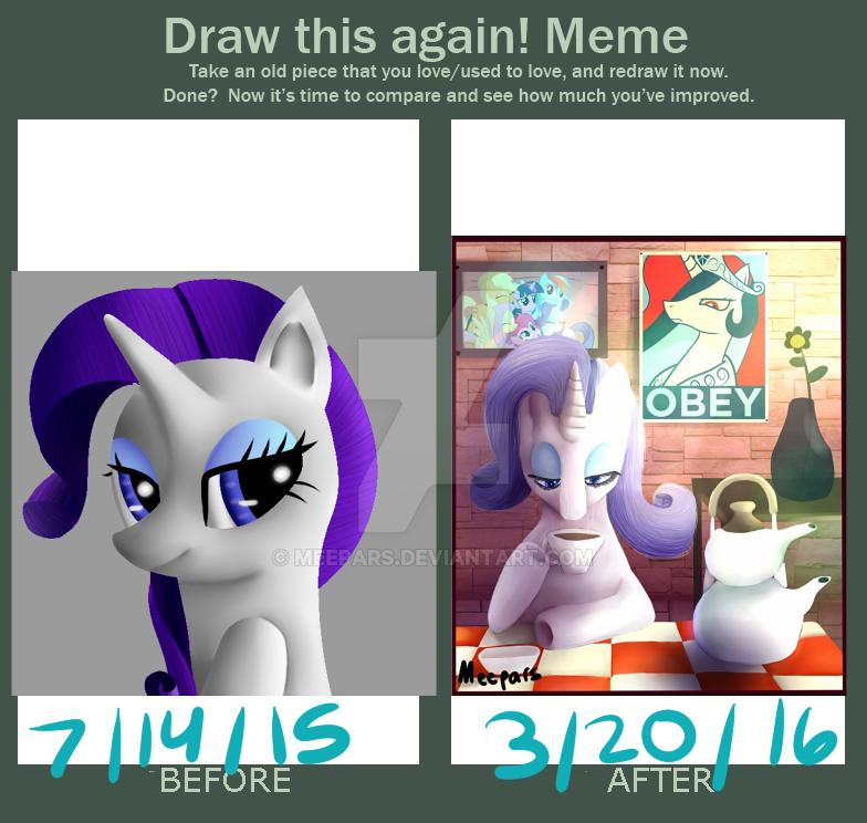 Draw This Again Meme Rarity By Meepars On Deviantart