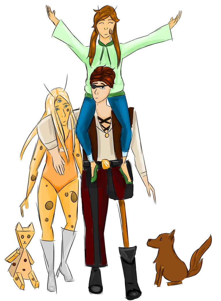 Captain Doy Family by amber-kat