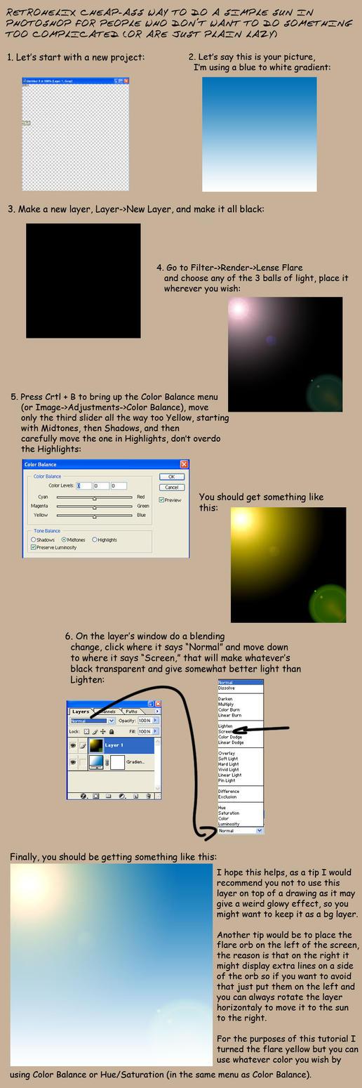 Photoshop: Quick sun tutorial by Retrohelix