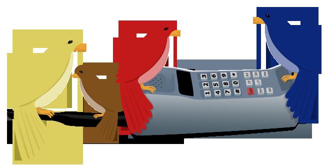 Calling Birds Four calling birds by caitlin-
