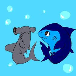 Shark Buddies  by toughcrowbro