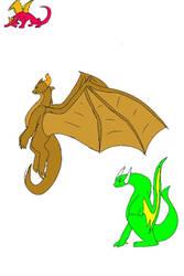 Dragon sketches  by toughcrowbro