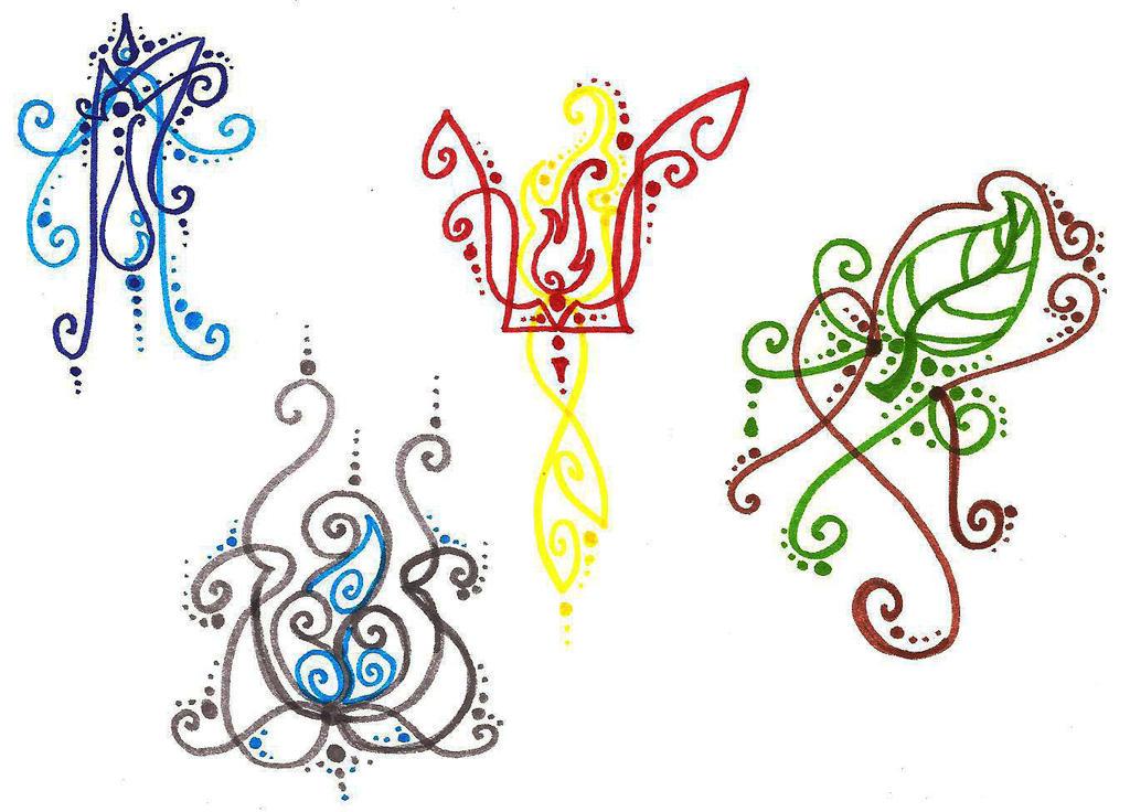 elements tattoo doodle by silverwolf song on deviantart. Black Bedroom Furniture Sets. Home Design Ideas