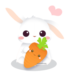 I love you,carrot!- backgroundless