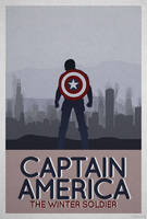 CAPTAIN AMERICA WINTER SOLDIER - MINIMALIST POSTER by skauf99