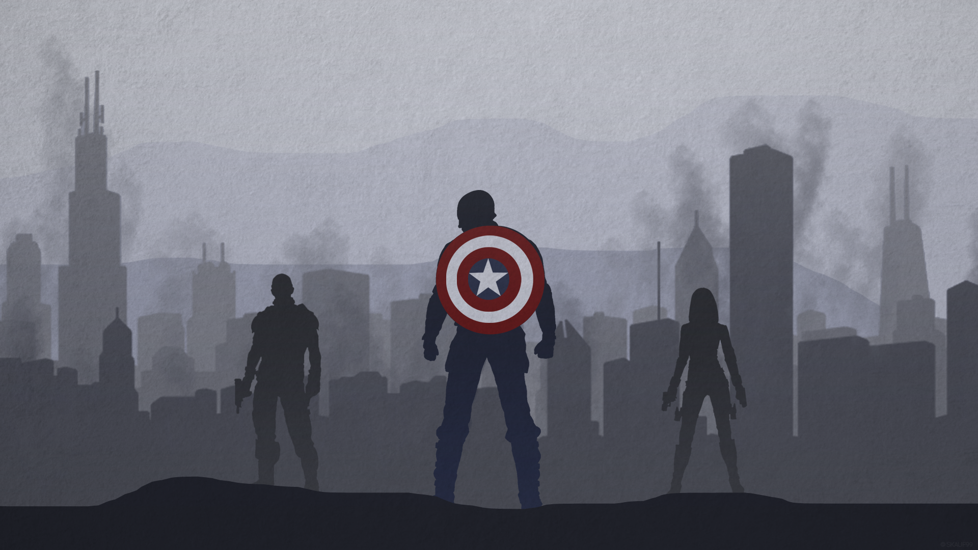 Captain America Winter Soldier Desktop Wallpaper By Skauf99 On