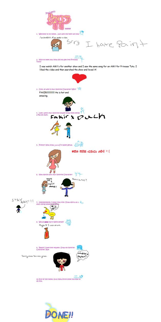 Princess Tutu Meme-My Version. by brookiet77