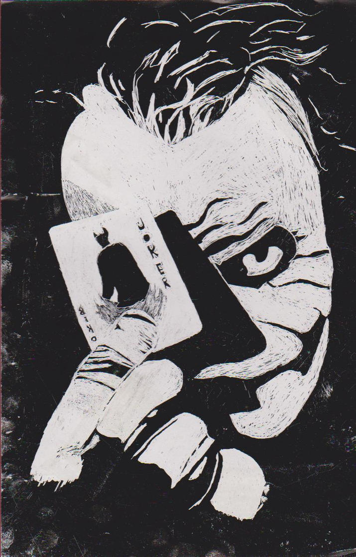 Joker Scratch Art By TheDeadSamurai