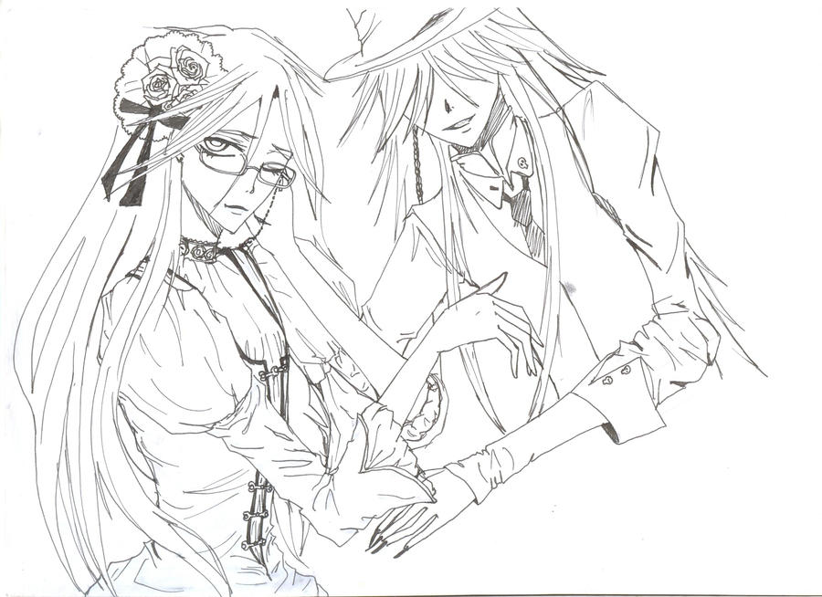 Grell and undertaker 2 by itsastupidnameright on deviantart for Undertaker coloring pages