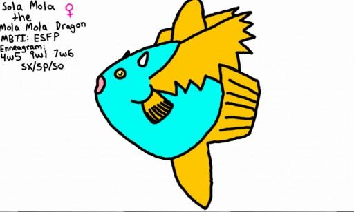 Sola Mola the Mola Mola Dragon by monkfishlover