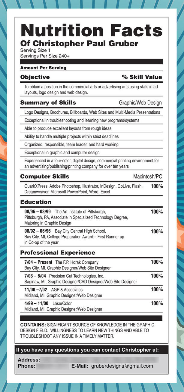 Gruber's Resume by gruberdesigns