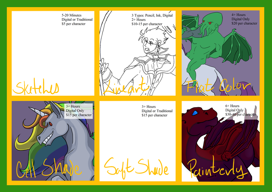Commissions (WIP) +NOW OPEN+ by 0ArmoredSoul0