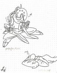 Gangleg Fairy at Peace, Heatsink Naps by 0ArmoredSoul0
