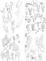 Hollow Knight Studies by 0ArmoredSoul0