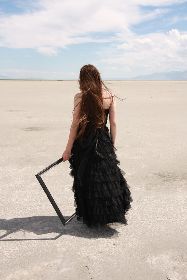 Black Gown and Frame 01 by Lynnwest-Stock