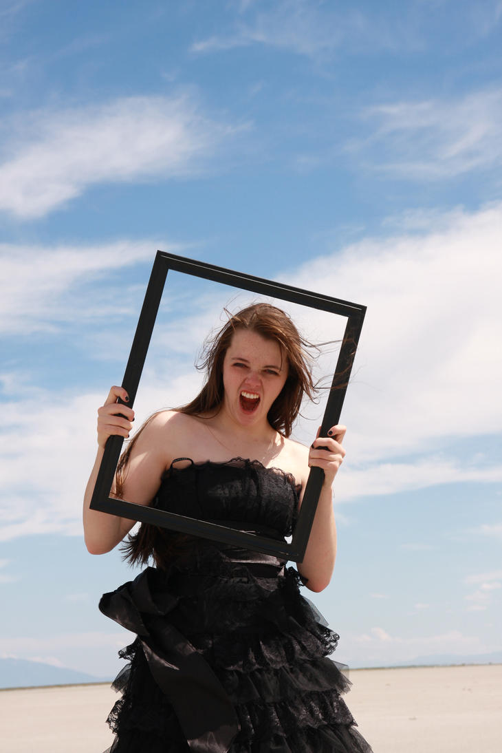 Black Gown and Frame 04 by Lynnwest-Stock