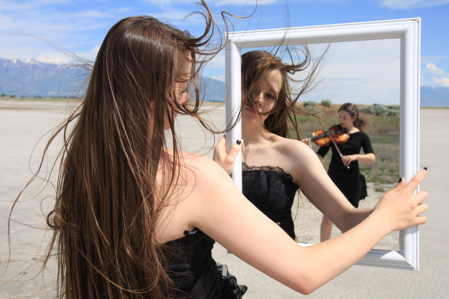 Black Gown and Mirror 06