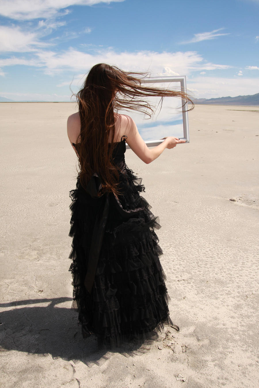 Black Gown and Mirror 07 by Lynnwest-Stock
