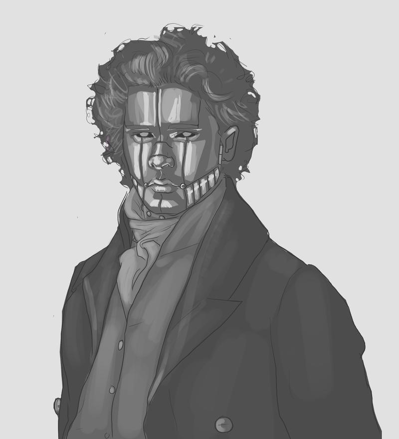 Commission sketch - GrumpySkunk by RiotEye