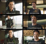 Loki vs Iron man