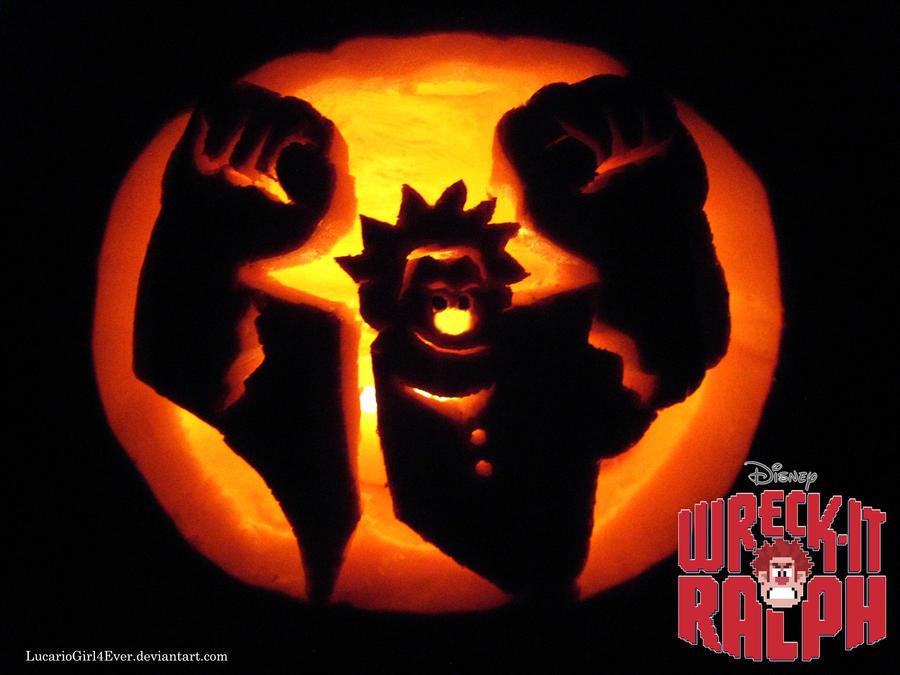 Wreck-It Ralph Pumpkin by LucarioGirl4Ever
