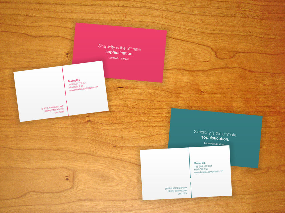 My business cards by bisek0 on deviantart for My business card
