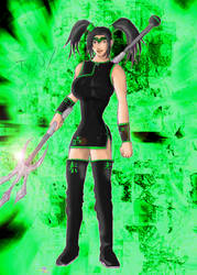 Jade Lightning pin-up by Trishbot