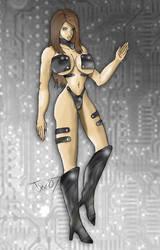 Mechana pin-up by Trishbot