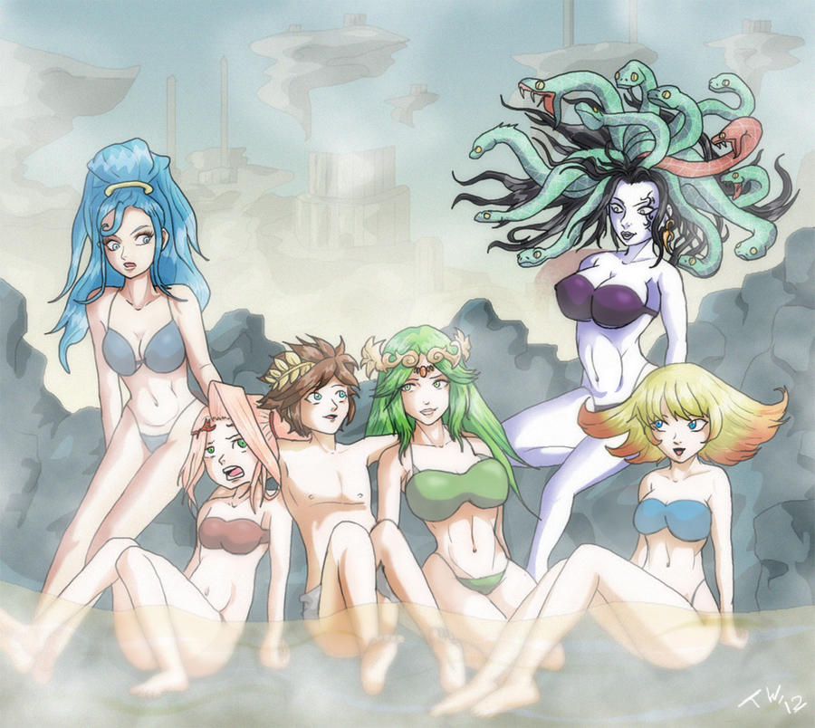 Kid Icarus Hotspring By Trishbot