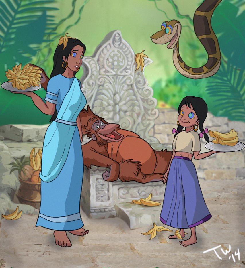 Jungle Book - Louie's Servants Alt by Trishbot