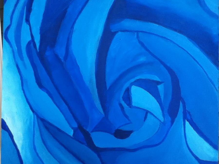Blue Rose Acrylic Paint By Greedhyogi On Deviantart